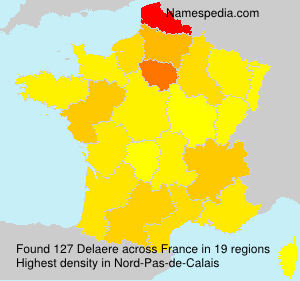 Surname Delaere in France