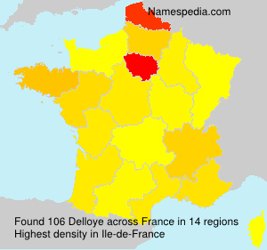 Surname Delloye in France