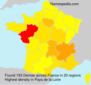 Surname Demas in France