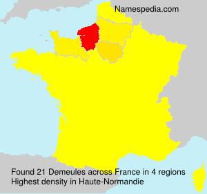 Surname Demeules in France