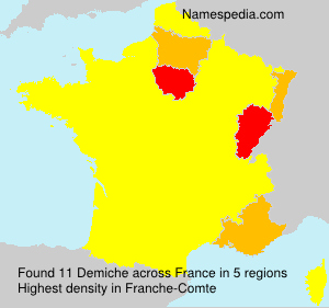 Surname Demiche in France