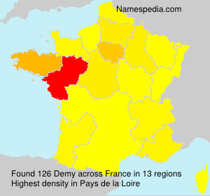 Surname Demy in France