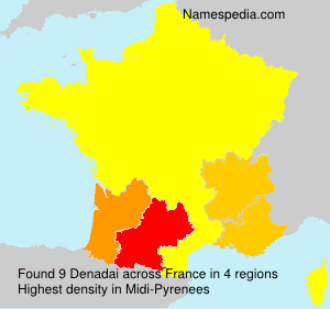 Surname Denadai in France