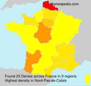 Surname Denies in France