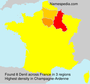 Surname Denil in France