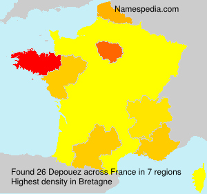 Surname Depouez in France