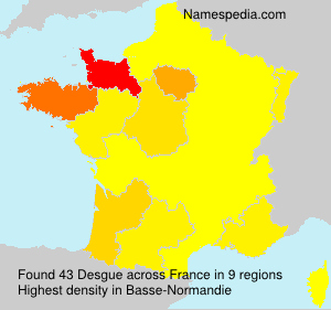 Surname Desgue in France