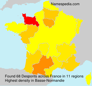 Surname Desponts in France