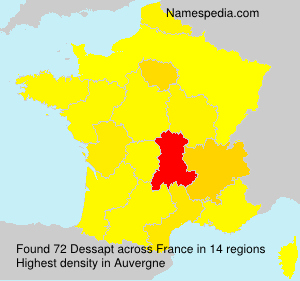 Surname Dessapt in France