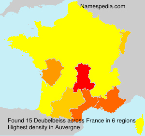 Surname Deubelbeiss in France
