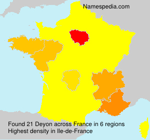 Surname Deyon in France