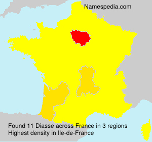 Surname Diasse in France