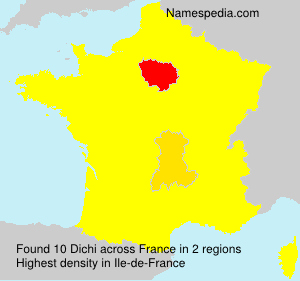 Surname Dichi in France
