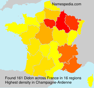 Surname Didon in France