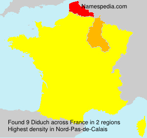 Surname Diduch in France