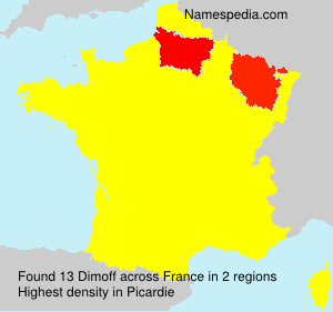 Surname Dimoff in France