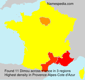 Surname Dimou in France