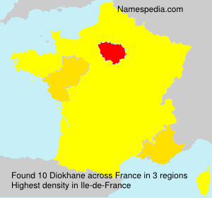 Surname Diokhane in France
