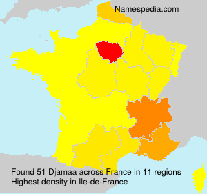 Surname Djamaa in France