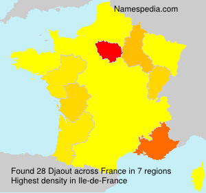 Surname Djaout in France