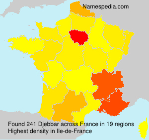 Surname Djebbar in France