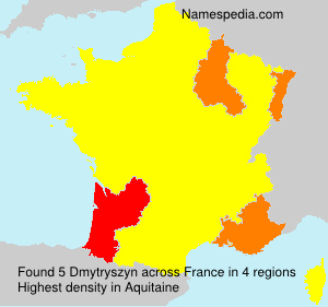 Surname Dmytryszyn in France