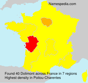 Surname Dolimont in France