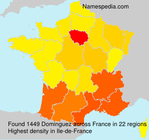 Surname Dominguez in France