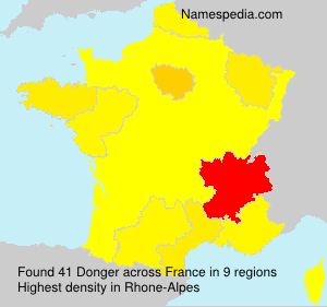 Surname Donger in France
