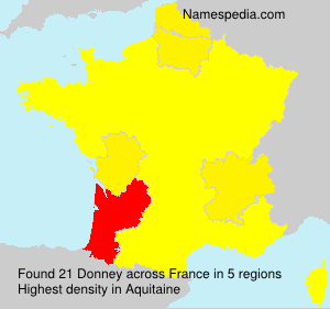 Surname Donney in France