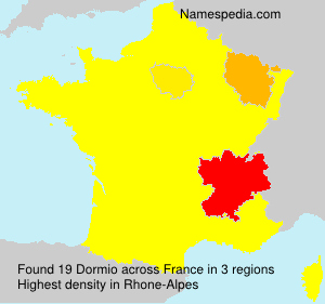 Surname Dormio in France