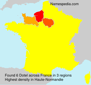 Surname Dotel in France