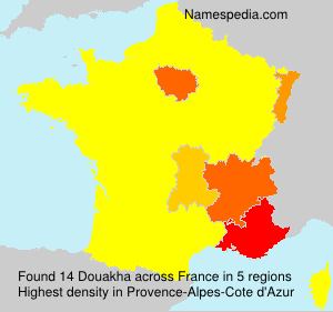 Surname Douakha in France