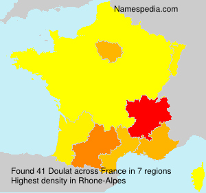 Surname Doulat in France