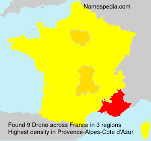 Surname Drono in France