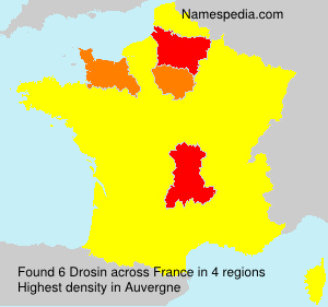 Surname Drosin in France
