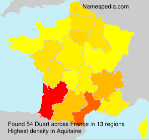 Surname Duart in France