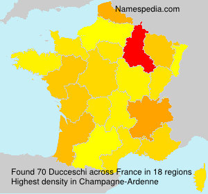 Surname Ducceschi in France