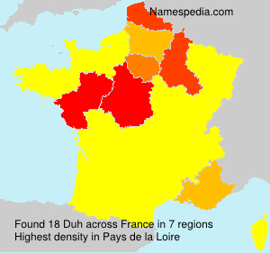 Surname Duh in France
