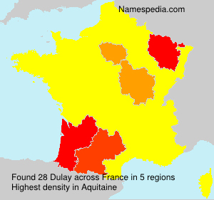 Surname Dulay in France