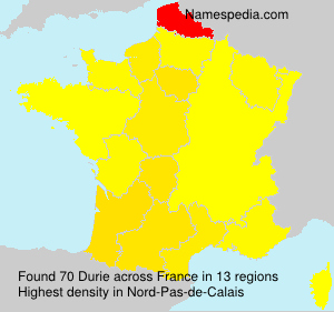 Surname Durie in France