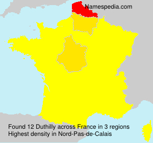Surname Duthilly in France