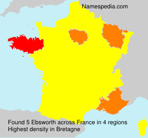 Surname Ebsworth in France
