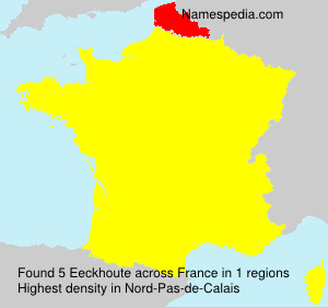 Surname Eeckhoute in France