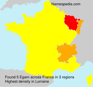 Surname Egam in France