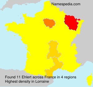 Surname Ehlert in France