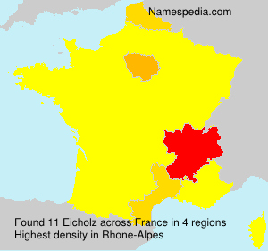 Surname Eicholz in France