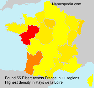 Surname Elbert in France