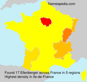Surname Ellenberger in France