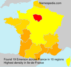 Surname Emerson in France